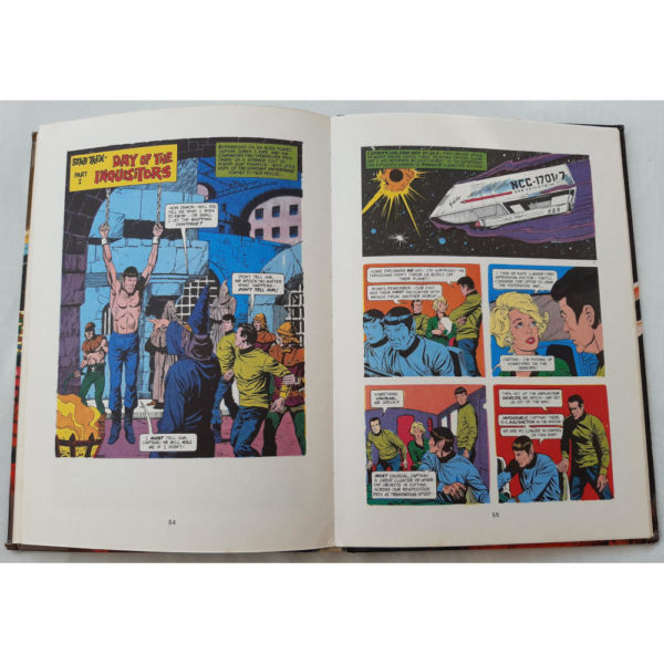 BBC Star Trek Annual 1974 Book Contents Day of the Inquisitors Comic Strip with Spock