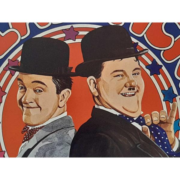 Berwick Slapstick 1975 Laurel & Hardy Vintage Game Detail