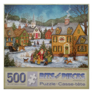 Bits and Pieces An Early Visit From Santa Jigsaw Puzzle Father Christmas Scene