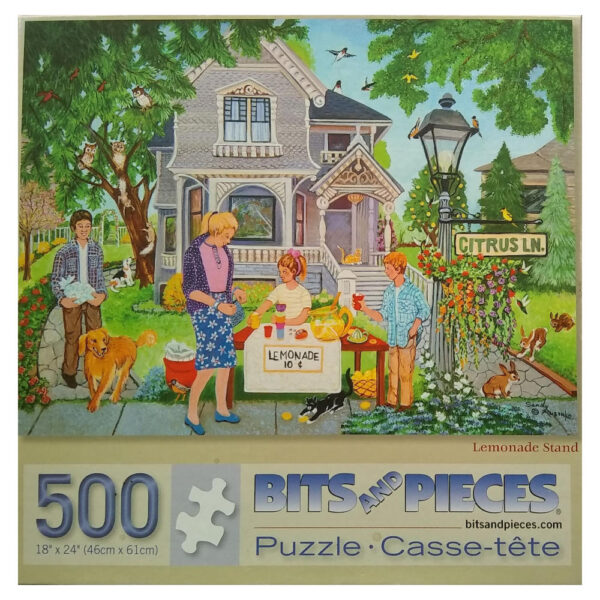Bits and Pieces Lemonade Stand Sandy Rusinko 44328 500 pieces jigsaw box