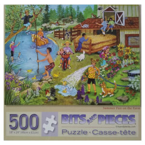 Bits and Pieces Summer Fun on the Farm by Sandy Rusinko 40069 500 pieces jigsaw box