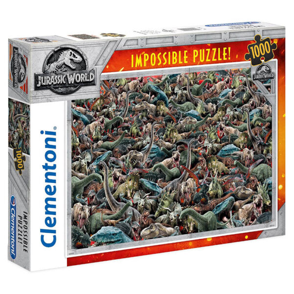 Clementoni Jurassic World Impossible Puzzle Dinosaurs Montage 39470 1000 pieces jigsaw box