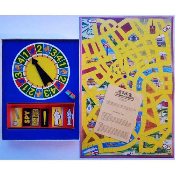 Condor Under Arrest Game Contents Board c1970s