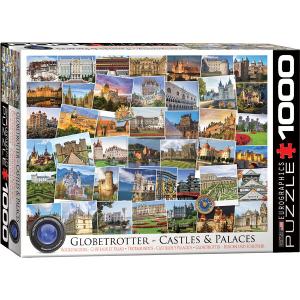 Eurographics Globetrotter Castles and Palaces 6000 0762 Jigsaw Box