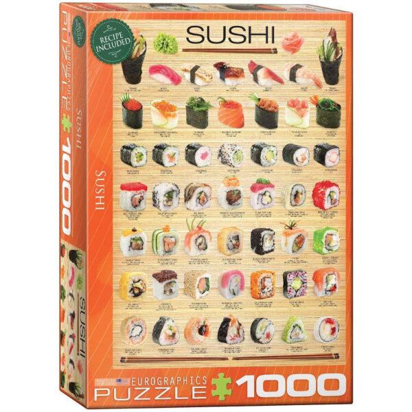 Eurographics Sushi 1000 pieces Jigsaw Box