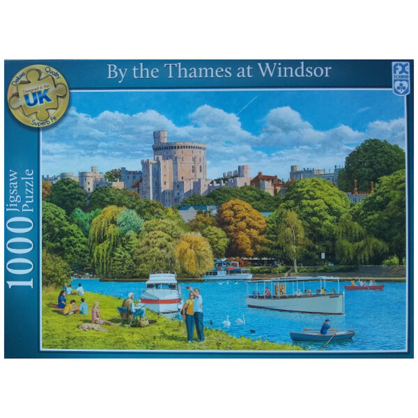 FX Schmid By the Thames at Windsor Boats by River Thames at Windsor Castle by Stephen Cummins 110066695 Jigsaw Box