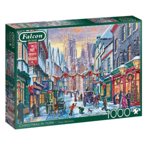 Falcon Christmas in York by Victor McLindon 11277 1000 pieces jigsaw puzzle box