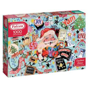 Falcon Contemporary Christmas Wishes Eleanor Bowmer 11360 1000 pieces jigsaw box