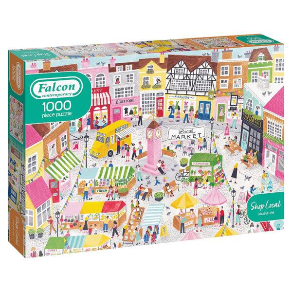 Falcon Contemporary Shop Local Jacqui Lee 11363 1000 pieces jigsaw puzzle box