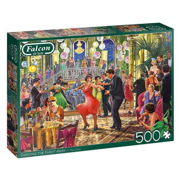 Falcon Dancing the Night Away 11291 500 pieces Jigsaw Box 1920s Ballroom Scene by Steve Crisp