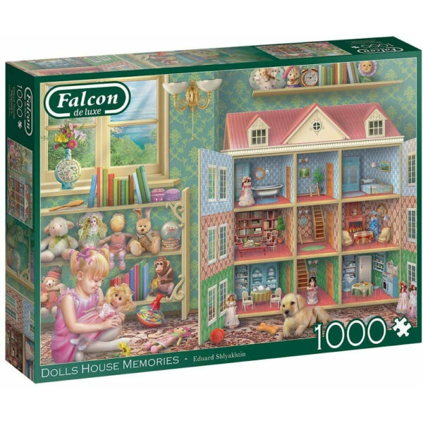 Falcon Dolls House Memories 11276 Jigsaw Box Girl with Dolls House and Toys by Eduard Shlyakhtin