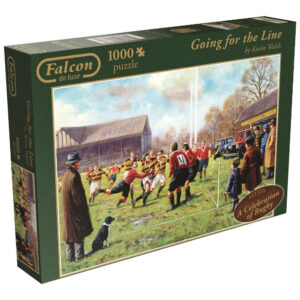 Falcon Going for the Line A Celebration of Rugby by Kevin Walsh 11077 Jigsaw 1000 pieces box