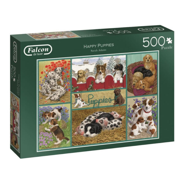 Falcon Happy Puppies 11219 Jigsaw Box Dogs Montage by Sarah Adams