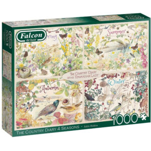 Falcon The Country Diary 4 Seasons 11307 Edwardian Lady Jigsaw Box Spring Summer Autumn Winter Montage