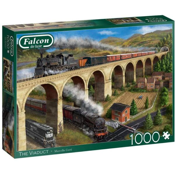Falcon The Viaduct 11281 Jigsaw Box Steam Train Landscape by Marcello Corti