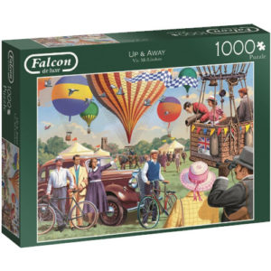 Falcon Up & Away Jigsaw Box featuring Hot Air Balloons