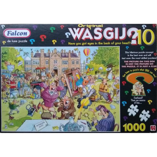 Falcon Wasgij Original 10 Antiques Hunt Jigsaw Box Antiques Roadshow Cartoon by Graham Thompson