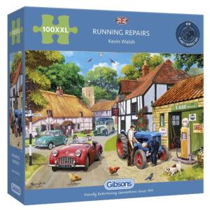 G2222 Gibsons Running Repairs 100XXL Jigsaw Box Nostalgic Motoring Scene by Kevin Walsh