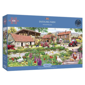 G4048 Gibsons Duckling Farm Jigsaw Box Ducks Farmyard Scene by Richard Macneil