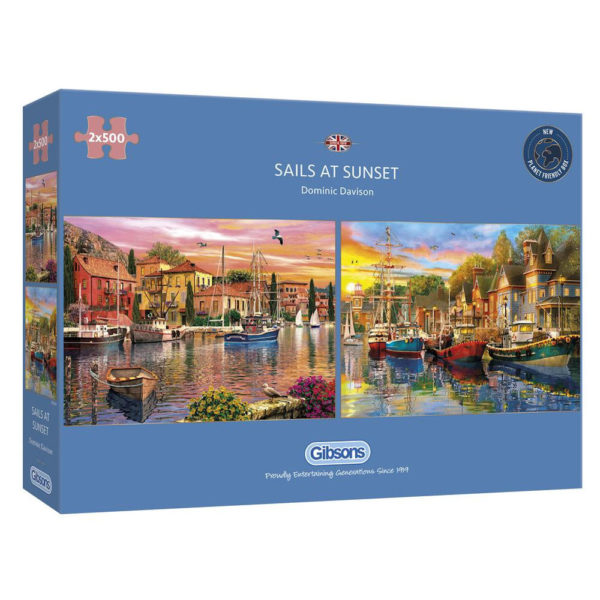 G5054 Gibsons Sails at Sunset Jigsaw Box