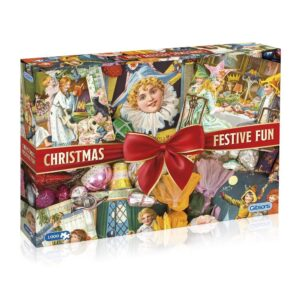 G7094 Gibsons Christmas Festive Fun Jigsaw Box Nostalgic Images from Robert Opie Collection