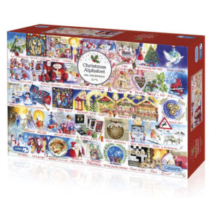 G710 Gibsons Christmas Alphabet Jigsaw Box