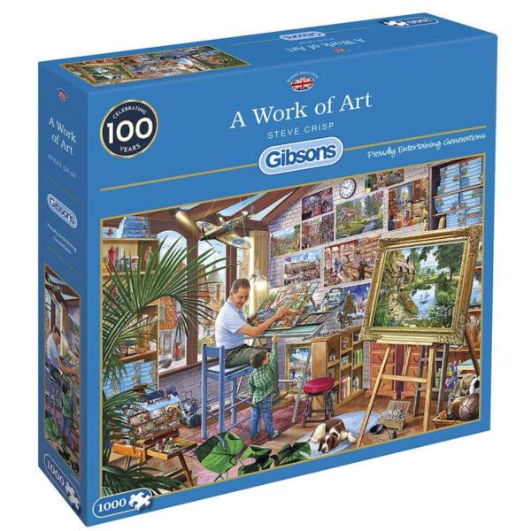 Gibsons A Work of Art by Steve Crisp G6266 1000 pieces jigsaw box