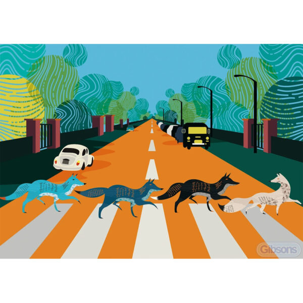 Gibsons Abbey Road Foxes G3605 Jigsaw Image 500 pieces