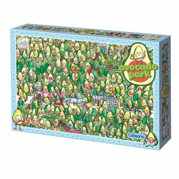Gibsons Avocado Park Carton by Jelly Armchair G1044 250XL pieces jigsaw box