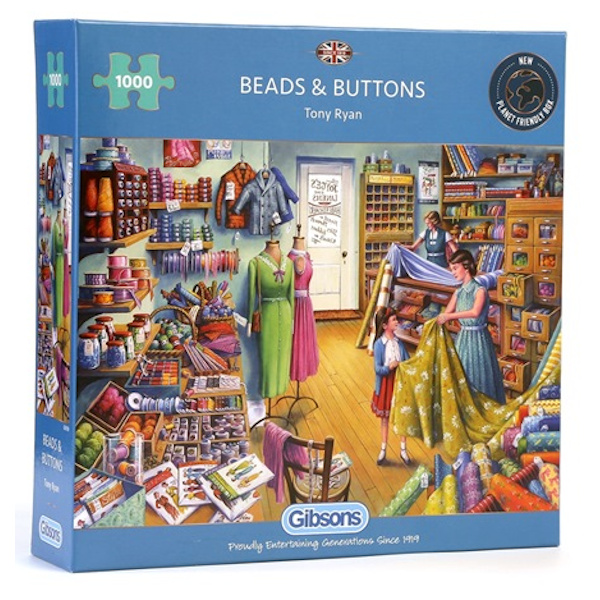 Gibsons Beads and Buttons Tony Ryan G6159 1000 pieces jigsaw box