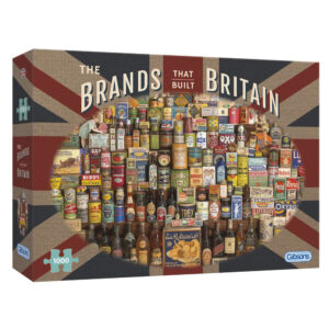 Gibsons Brands That Built Britain G7073 Jigsaw Box Food Montage by Robert Opie