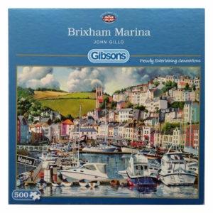Gibsons Brixham Marina G3108 Jigsaw Box Harbour Scene