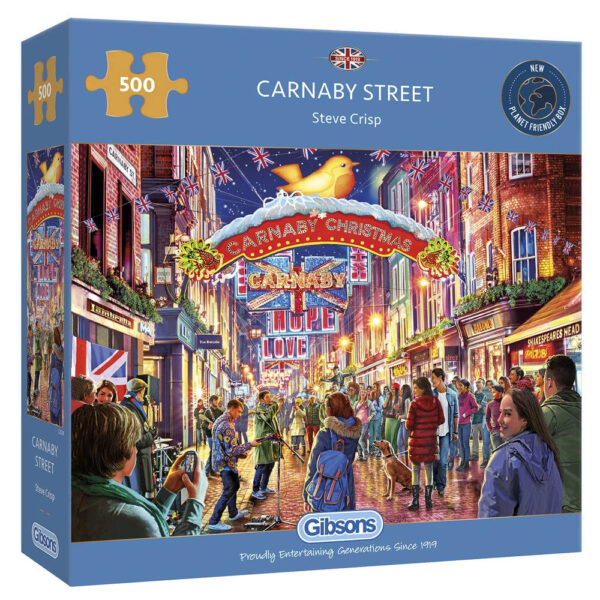 Gibsons Carnaby Street G3124 Jigsaw Box London Christmas Street Decorations
