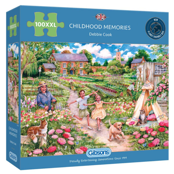 Gibsons Childhood Memories G2223 100XXL Jigsaw Box Children Playing in Garden by Debbie Cook