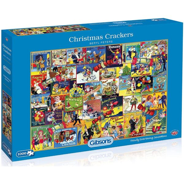 Gibsons Christmas Crackers G7078 Jigsaw Box Nostalgic Montage by Beryl Peters