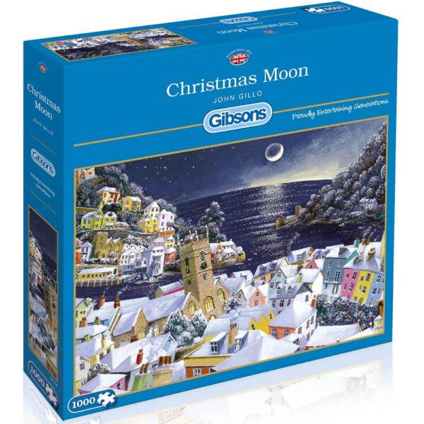 Gibsons Christmas Moon G6198 Jigsaw Box Dartmouth Snow Scene