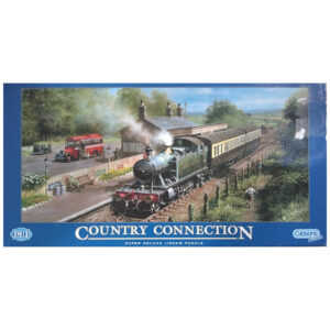 Gibsons Country Connection Steam Engine scene by Don Breckon G617 636 pieces jigsaw box