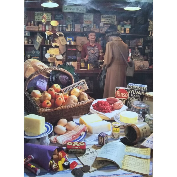 Gibsons Elliot's Family Grocers Classic Interiors G471 Jigsaw Image War time Shop in Flambards Village