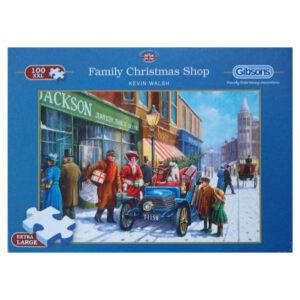 Gibsons Family Christmas Shop Nostalgic Street Scene by Kevin Walsh G2214 100XXL jigsaw box
