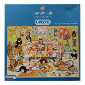 Gibsons Family Life G3081 Jigsaw Box Cats at Home by Linda Jane Smith