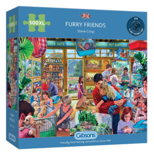 Gibsons Furry Friends G3547 Jigsaw Box 500XL extra large pieces Pet Shop Scene including Cats Dogs Rabbits by Steve Crisp