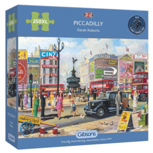 Gibsons Piccadilly G2716 Jigsaw Box 250XL pieces Nostalgic Scene of Piccadilly Circus London by Derek Roberts
