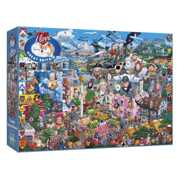 Gibsons G469 I Love Great Britain jigsaw box