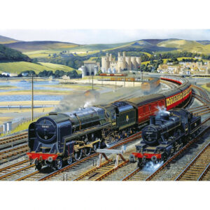Gibsons Gateway to Snowdonia G916 Jigsaw Image Steam Railway Trains Conwy Castle and Estuary by Barry Freeman