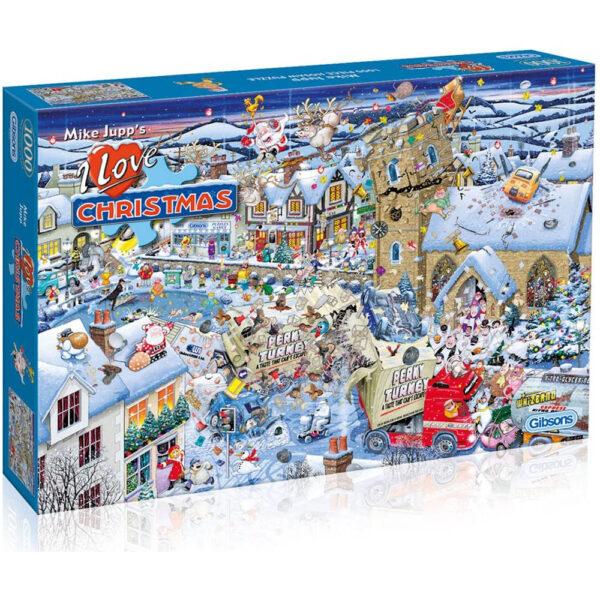 Gibsons I Love Christmas Mike Jupp G7013 Jigsaw Box