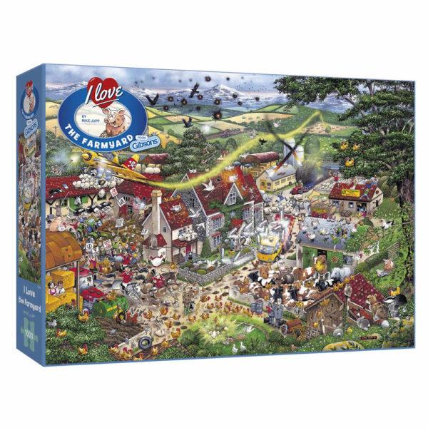 Gibsons I Love The Farmyard G794 Jigsaw Box Mike Jupp Cartoon