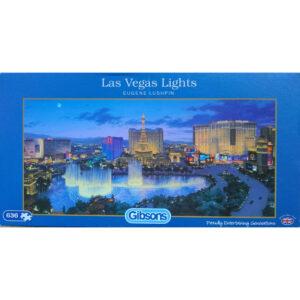 Gibsons Las Vegas Lights G4017 636 pieces Jigsaw Box City Scene by Eugene Lushpin