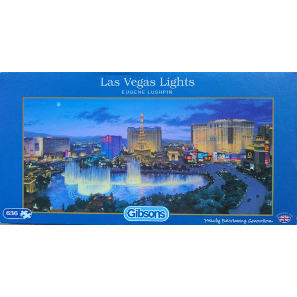 Gibsons Las Vegas Lights G4017 636 pieces Jigsaw Box City Scene by Eugene Lushpin
