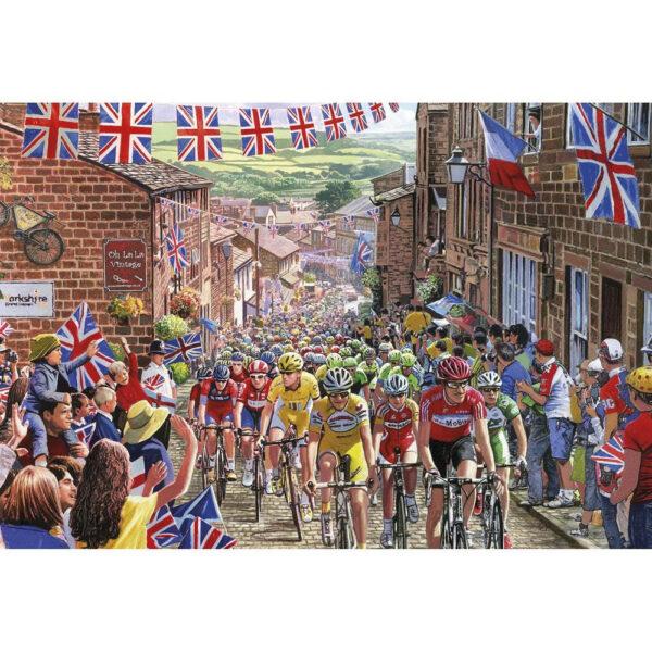 Gibsons Le Tour de Yorkshire G3429 500 Gift Jigsaw Image Cycling Bike Race by Steve Crisp