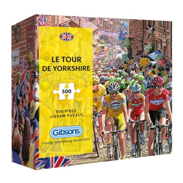Gibsons Le Tour de Yorkshire G3429 Jigsaw Gift Box 500 pieces Cycling Bike Racing by Steve Crisp 500 pieces